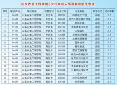 山东农业工程学院成人高考招生简章